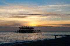 Old pier in Brighton , England. Stock Photography