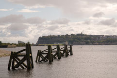 Old pier on cardiff bay Stock Photography