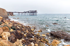 Old pier into disuse Stock Photography