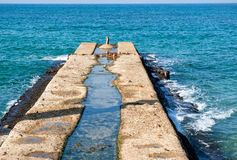 Old pier dock jetty Royalty Free Stock Image