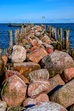The old pier. Engure Royalty Free Stock Photography