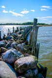 The old pier. Engure Stock Photo
