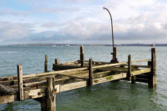 Old pier. Ireland. The old Titanic wooden pier in Cobh. County Cork, Ireland Stock Images