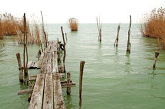 Old pier at Lake Balaton ,Hungary Stock Photography