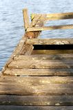 Old pier. O a small lake Royalty Free Stock Photo