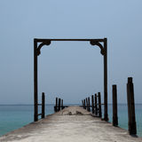 Old pier over sea Stock Image