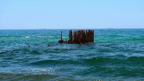 Old pier stock video footage