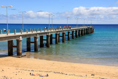 Old pier in Porto Santo island Royalty Free Stock Photography