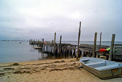 Old Pier in Provincetown. An old wooden pier in Provincetown, Cape Cod, MA Royalty Free Stock Images