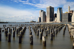 Old pier pylons. Stock Images
