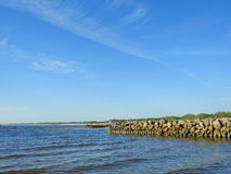 Old pier remains , Lithuania Royalty Free Stock Images