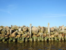 Old pier remains , Lithuania Royalty Free Stock Photos
