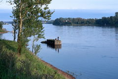 Old pier. River bank Neva royalty free stock images