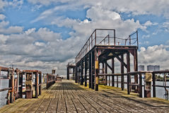 Old pier in rotterdam Stock Photography