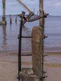 Old Pier Ruins Stock Photo