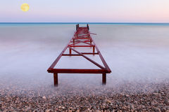 Old pier at the sea Stock Image