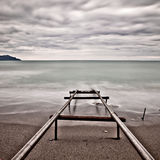 Old pier at the sea Royalty Free Stock Image