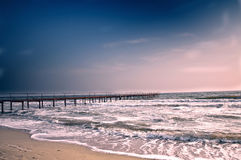 Old pier at sea Stock Photography