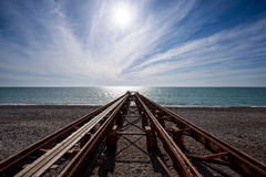 Old pier on sea Royalty Free Stock Images