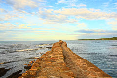An old pier in St Andrews Royalty Free Stock Image