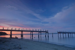 Old Pier at Sunset Royalty Free Stock Images