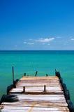 Old pier to sea royalty free stock photos