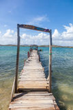 Old pier - Views around Curacao Caribbean island Stock Photo