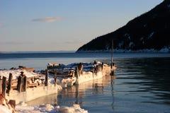 old pier winter Στοκ Εικόνες