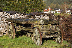Old pile of wood in the countryside Stock Image