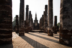 Old pillar and old pagoda Royalty Free Stock Images