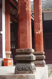The old pillars of chinese style. The old pillars ofchinese style in a chinese temple stock image