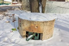 Old Pillbox, Russia. Old Pillbox. Kaluszhskiy region, Russian royalty free stock image