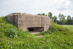 Old pillbox since the Second World war. At the turn of the defense of Moscow, Mozhaysk district, Russia Stock Photo