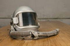 Old pilot helmet Stock Photography