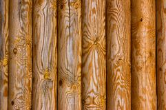Old pine logs Stock Images