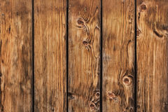 Old Pine Wood Planks Fence With Knots - Detail. Photograph of antique rustic Pine wood fence - detail Royalty Free Stock Photos