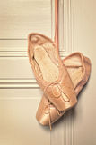 Old pink ballet shoes Royalty Free Stock Images