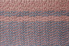 Old pink and blue cotton rug Royalty Free Stock Photos
