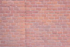 Old pink wall, bricks, grunge background royalty free stock photos