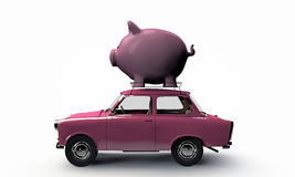Old pink car Royalty Free Stock Image