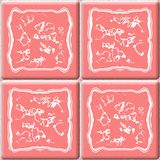 Old pink ceramic tiles seamless pattern texture Stock Photos