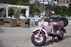 Old and pink lambretta front Stock Images