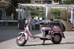 Old and pink lambretta Stock Photo