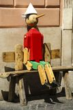 Old Pinocchio Wooden Marionette Rom The Book Written By Carlo Co Stock Image