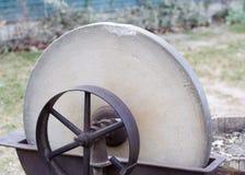 Old Pioneer Era Grindstone Closeup Stock Images