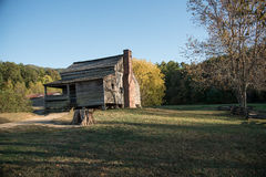 Old pioneers cabin on Smoky Mountains National Park. Shot during the fall of 2016 Royalty Free Stock Photo