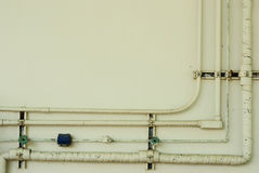 Free Old Pipe Line On Wall Stock Photography - 30350382