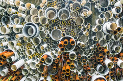 Old pipe line and PVC plastic pipes Stock Images