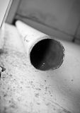 Old pipe looked from below Royalty Free Stock Photos
