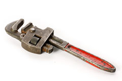 OLD PIPE WRENCH Royalty Free Stock Photography